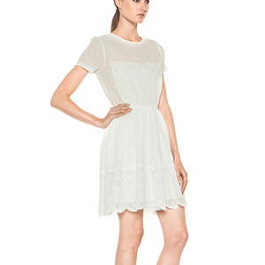NWT GIRL by BAND Of OUTSIDERS Lace Trim Dress